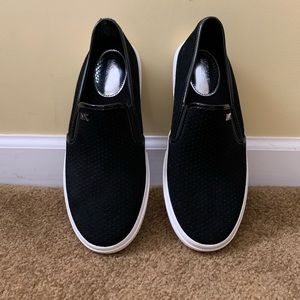 Black Michael Kors slip on shoes
